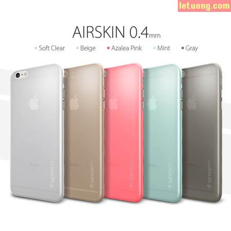 Ốp lưng Iphone 6 Plus Spigen Air Skin 0,4mm mỏng nhất Thế Giới 1