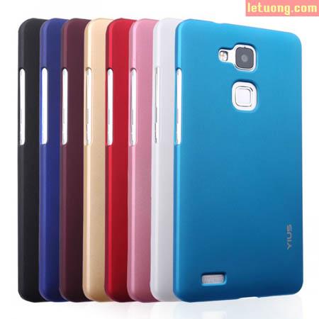Ốp lưng Huawei Mate 7 Yius Case lưng nhung mịn, chống vân tay 1
