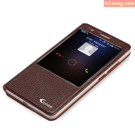 Bao da Huawei Mate 7 Guoer View tiện lợi, da thật sang trọng 1