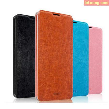 Bao da Sony C5 Ultra Mofi Leather Case khung nhựa mềm TPU 1