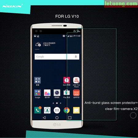 Kính cường lực LG V10 Nillkin Amazing độ cứng 9H, chống vỡ 1