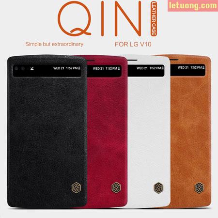 Bao da LG V10 Nillkin Qin Leather View, bền bỉ, sang trọng 1