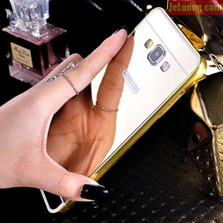 Ốp lưng Samsung Galaxy E5 LT Armor Metal mạ 24K, tráng gương 1