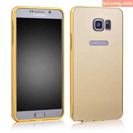 Ốp lưng Galaxy Note 5 LT Armor Metal 24K, tráng gương viền nhôm 1
