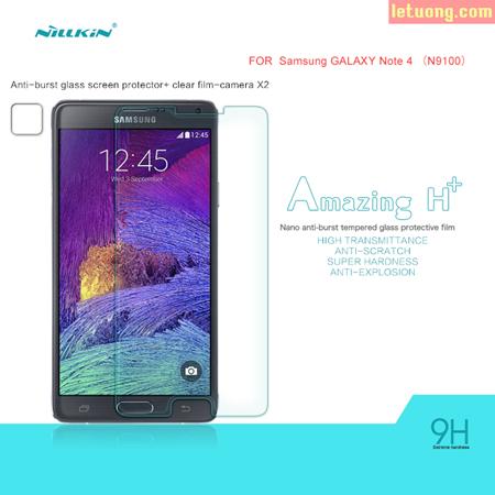 Miếng kính cược lực Galaxy Note 4 Nillkin H+ vát viền 2.5D 1
