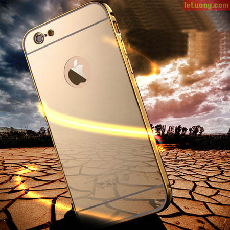Ốp lưng Iphone 6, 6S hiệu LT Armor Metal 24K tráng gương 1