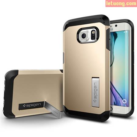 Ốp lưng Galaxy S6 Edge Spigen Tough Armor chống sốc USA 1