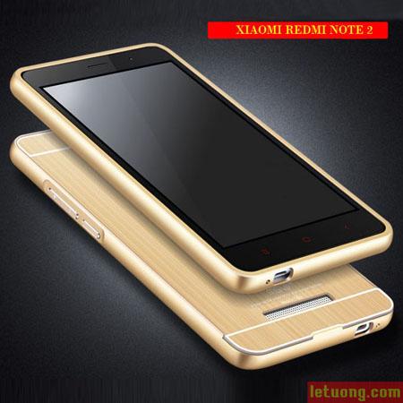 Ốp lưng Redmi Note 3 MSV Dimond Cut viền nhôm cắt chỉ vàng