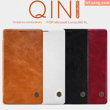 Bao da Lumia 950 XL Nillkin Qin Leather sang trọng, bền bỉ 1