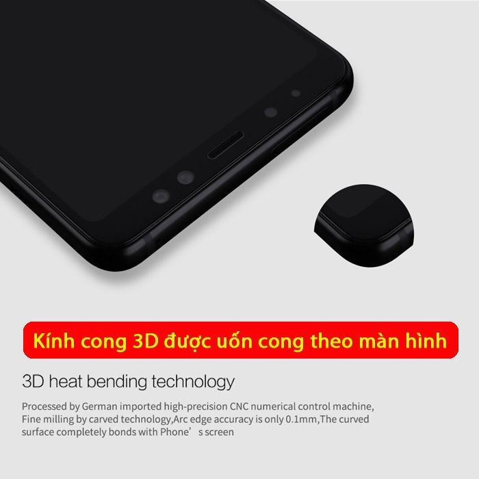 Kính cường lực Galaxy A8 2018 Mocolo 3D Edge full cong theo màn hình