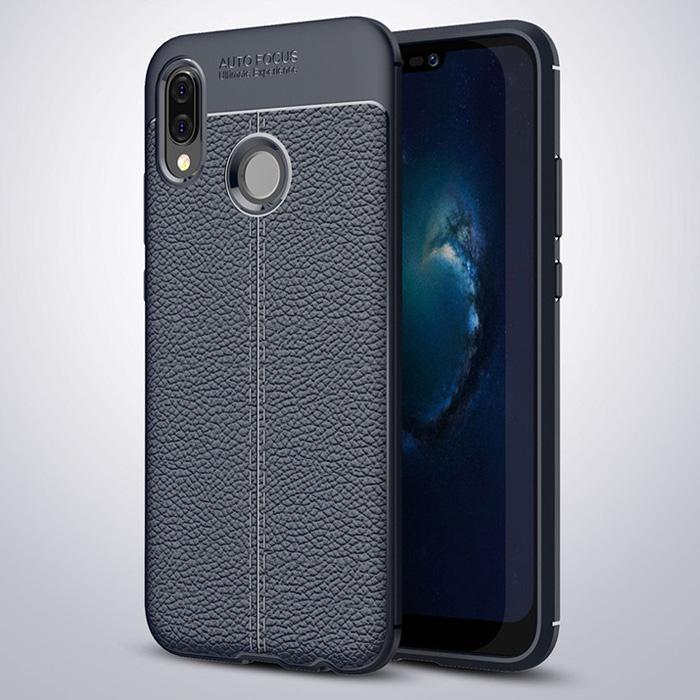 Ốp lưng Huawei Nova 3E LT Leather Design Case vân da sang trọng