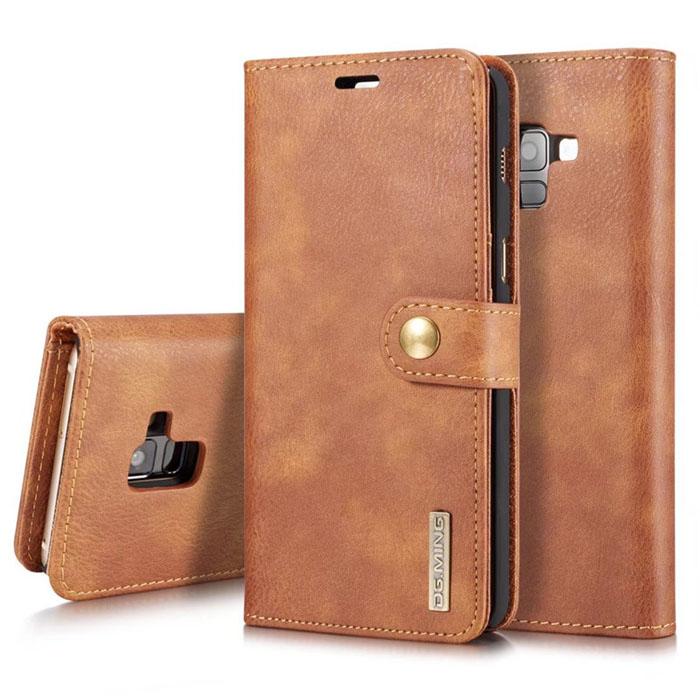 Bao da Galaxy A8 2018 DG.ming Genuine Leather Vintage 2 trong 1 đa năng