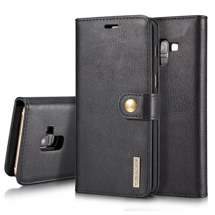 Bao da Galaxy A8 Plus 2018 DG.ming Genuine Leather Vintage 2 trong 1 đa năng