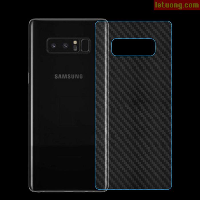 Miếng dán mặt lưng Galaxy Note 8 vân carbon trong suốt