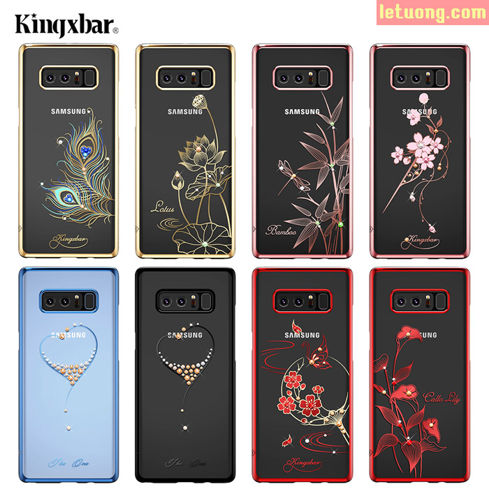 Ốp lưng Galaxy Note 8 Kingxbar Swarovski Element đính đá cao cấp