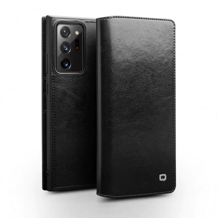 Bao da Note 20 Ultra / Note 20 Ultra 5G Qialino Classic Leather Wallet da thật Hanmade