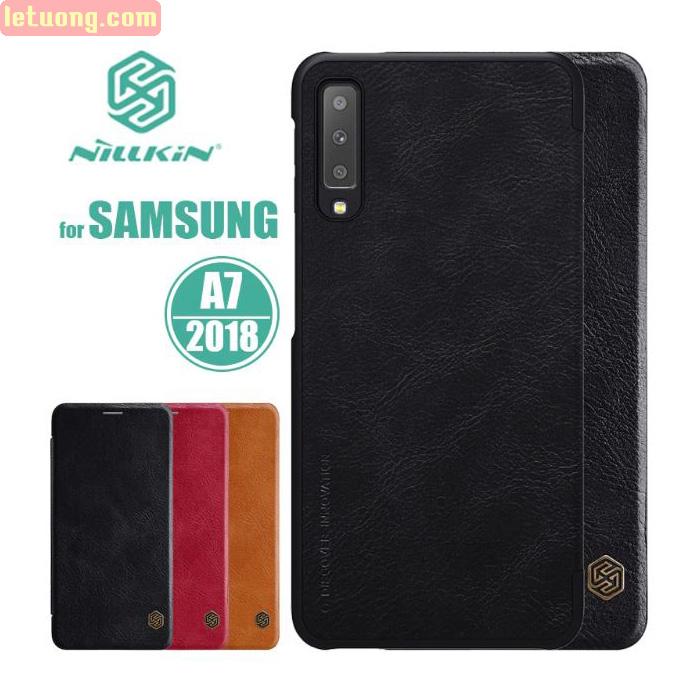 Bao da Galaxy A7 2018 Nillkin Qin Leather sang trọng - cổ điển