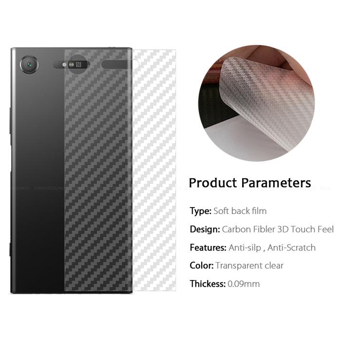 Miếng dán full mặt lưng Sony Xperia XZ1 vân Carbon chống vân