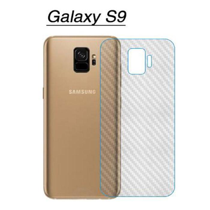 Miếng dán full mặt lưng Galaxy S9 vân Carbon chống vân tay