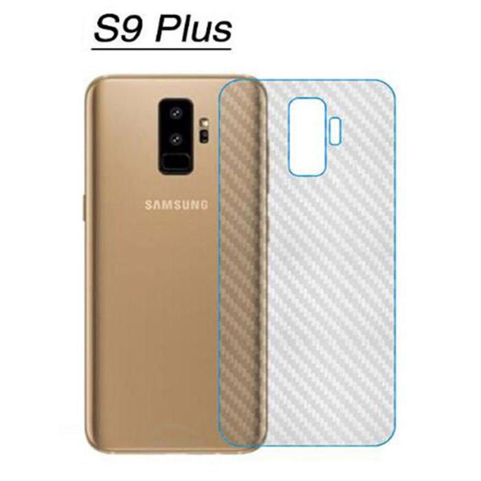 Miếng dán full mặt lưng Galaxy S9 Plus vân Carbon chống vân tay