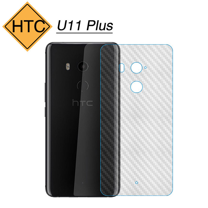 Miếng dán full mặt lưng HTC U11 Plus vân Carbon chống vân tay