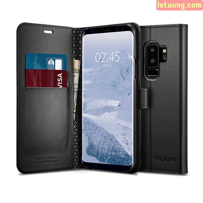 Bao da Galaxy S9 Plus (S9+) Spigen Wallet S đa năng từ Mỹ