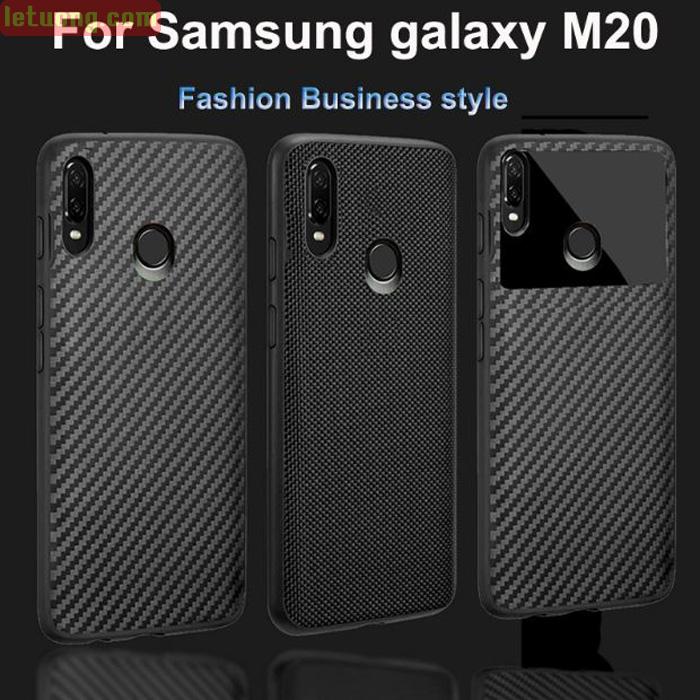 Ốp lưng Galaxy M20 LT Carbon Fiber 3D 3 phiên bản cực đẹp