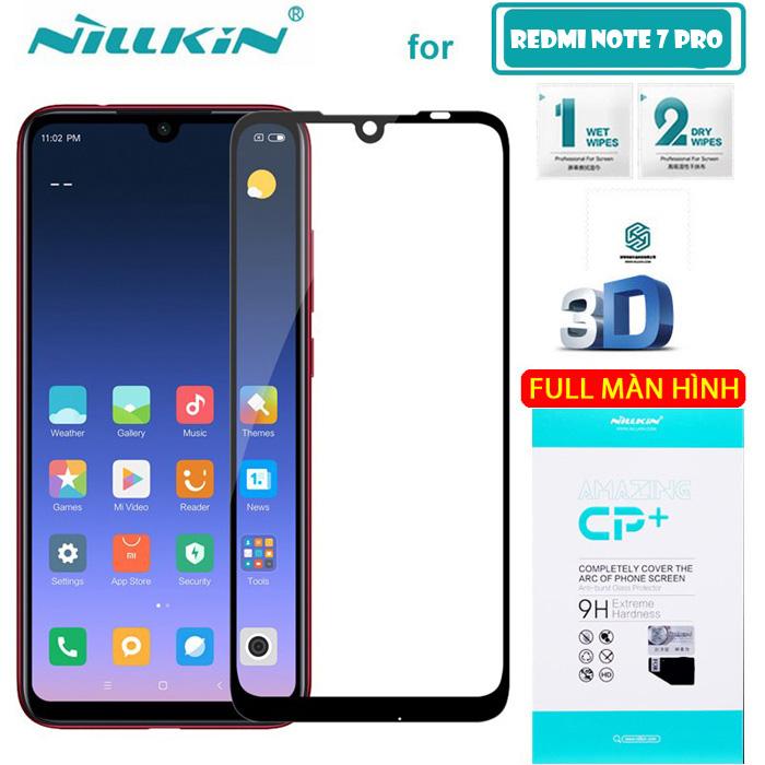 Kính cường lực Redmi Note 7 Pro Nillkin 3D CP+ full toàn màn hình