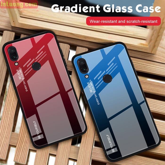 Ốp lưng Redmi Note 7 Pro LT Beyoursefl Glass Case Gradient đổi màu