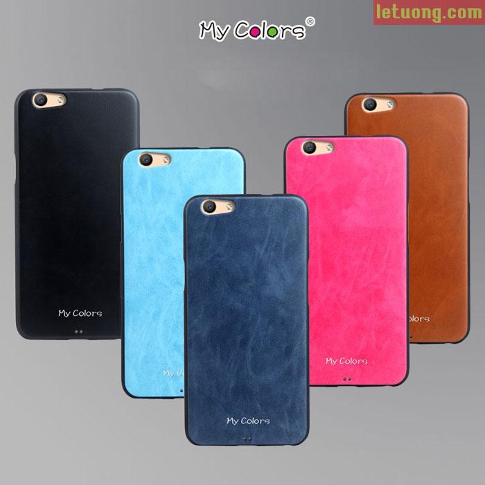 Ốp lưng Oppo R9s Mycolors Leather TPU nhựa mềm sang trọng