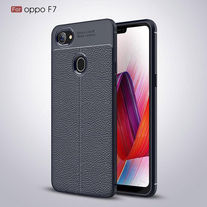 Ốp lưng Oppo F7 LT Leather Design Case vân da - sang trọng