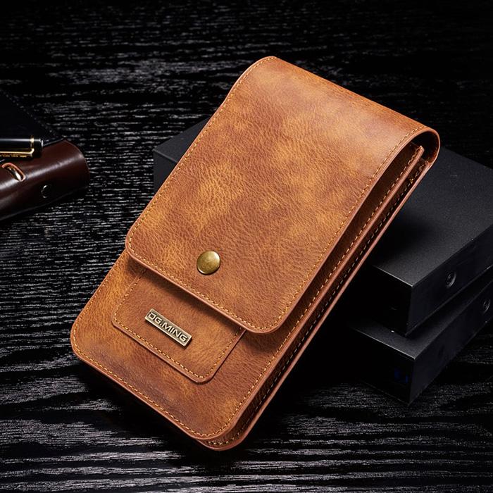 Bao da đeo thắt lưng đa năng DG.ming Genuine Leather 2 ngăn đa năng