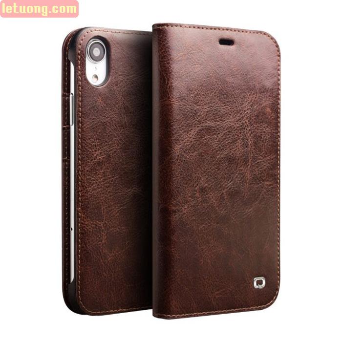Bao da iPhone Xr Qialino Classic Leather Hanmade da thật - sang trọng