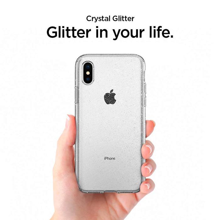 Ốp lưng iPhone Xs Max Spigen Liquid Crystal Glitter kim tuyến ( Hàng USA )