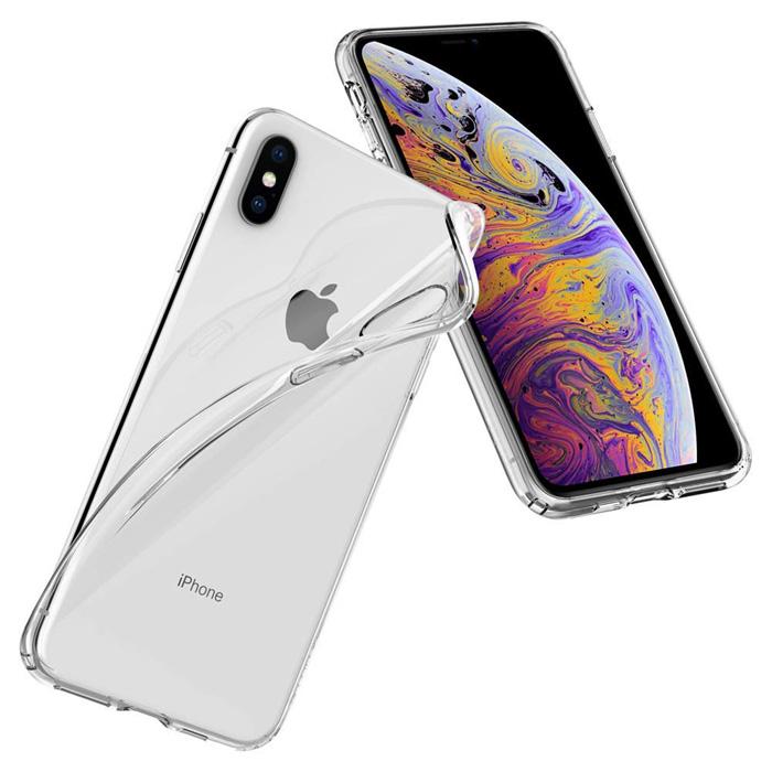 Ốp lưng iPhone Xs Max Spigen Liquid Crystal trong suốt ( Hàng USA ) + Tặng dán lưng Carbon