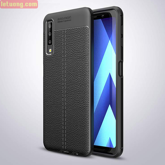 Ốp lưng Galaxy A7 2018 LT Leather Design Case vân da - chống vân tay