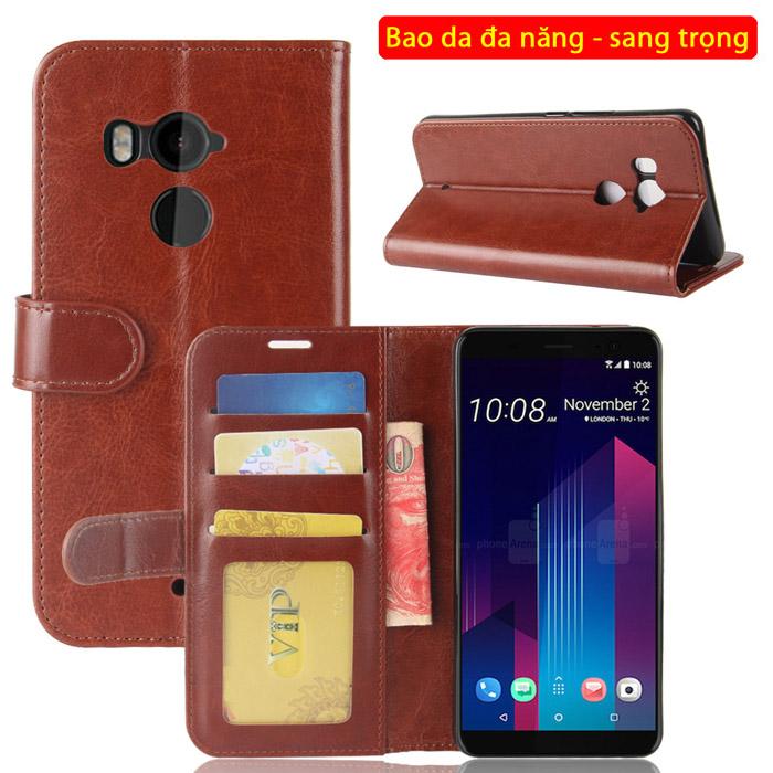 Bao da HTC U11 Plus LT Wallet Leather dạng ví đa năng - khung mềm