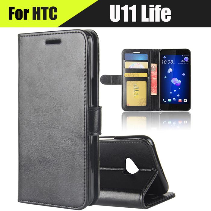 Bao da HTC U11 Life LT Wallet Leather dạng ví đa năng - Khung mềm