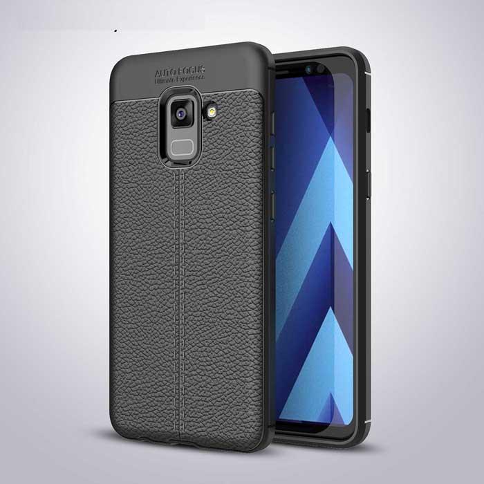 Ốp lưng Galaxy A8 2018 LT Leather Design Case chống sốc, chống vân tay