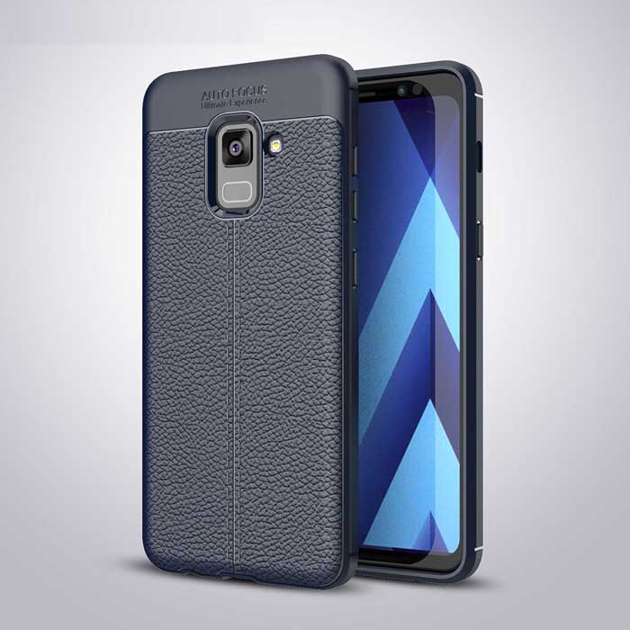 Ốp lưng Galaxy A8 Plus 2018 / A8+ 2018 LT Leather Design Case chống sốc
