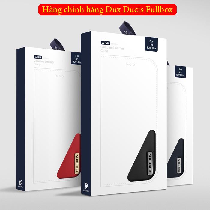 Bao da Galaxy S20 Ultra Dux Ducis Wish Genuine Leather Vintage cổ điển