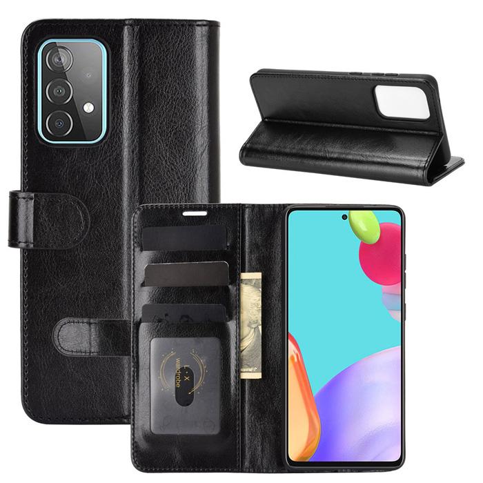 Bao da Samsung A52 5G LT Wallet Leather dạng ví đa năng - khung mềm