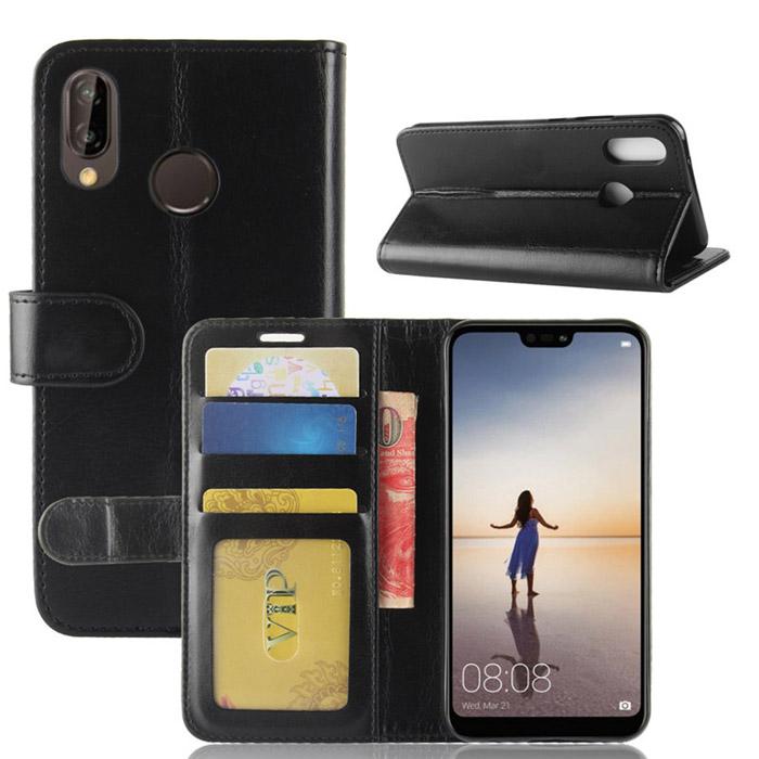 Bao da Huawei Nova 3E LT Wallet Leather dạng ví đa năng - khung mềm