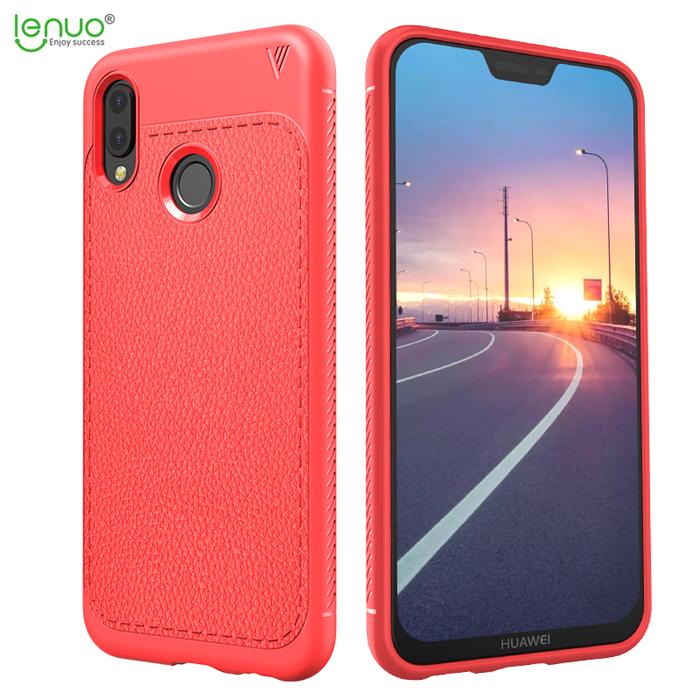Ốp lưng Huawei Nova 3E Lenuo Leshen Serie vân da sang trọng