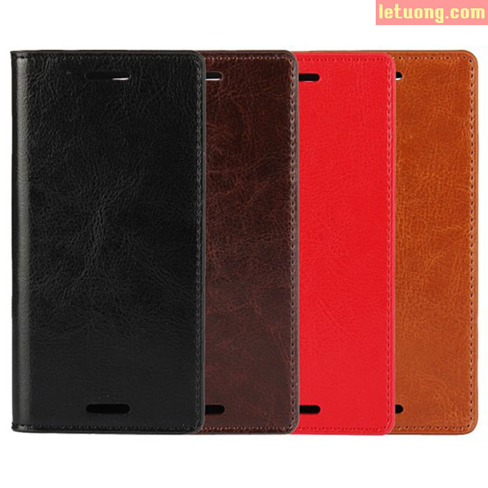 Bao da Sony XZ/XZs LT Wallet Hanmade da thật sang trọng