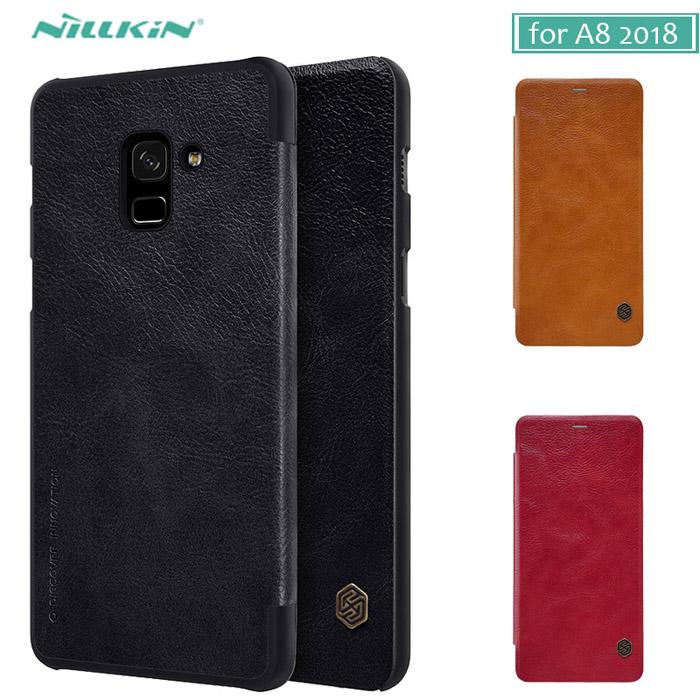 Bao da Galaxy A8 2018 Nillkin Qin Leather Case sang trọng bền bỉ