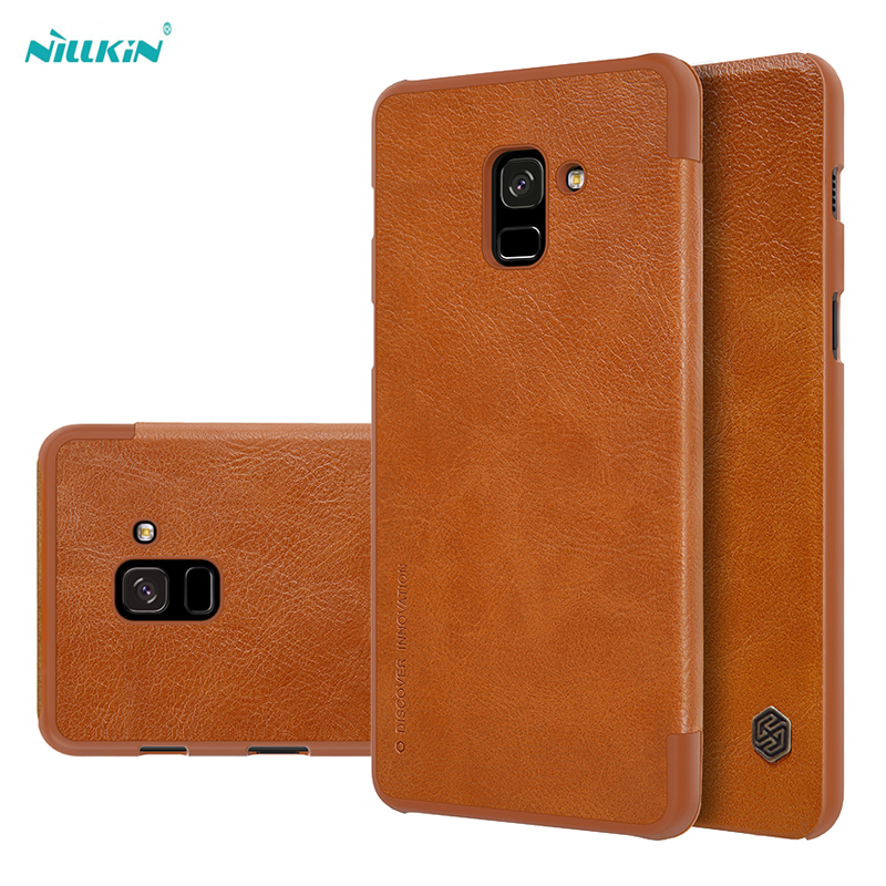 Bao da Galaxy A8 Plus 2018 Nillkin Qin Leather Case sang trọng