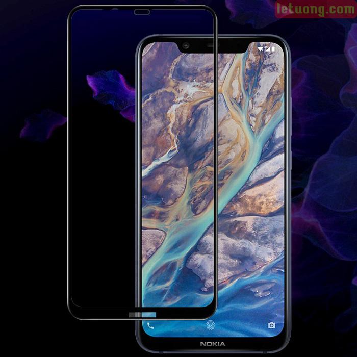 Kính cường lực Nokia 8.1 Glass Full 5D XỊN phủ keo toàn màn hình