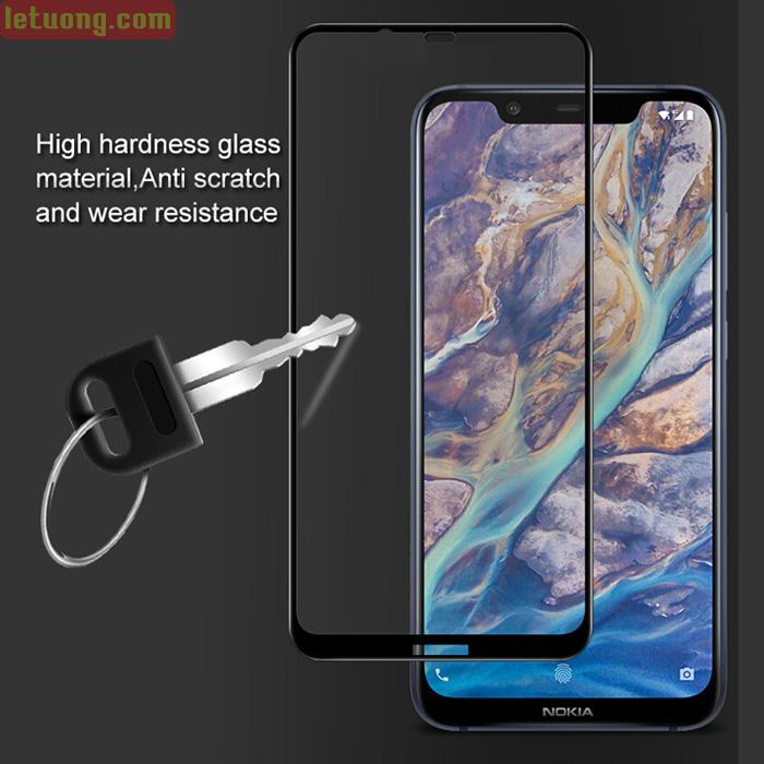 Kính cường lực Nokia X7 / Nokia 8.1 Glass Full 5D XỊN phủ keo toàn màn hình