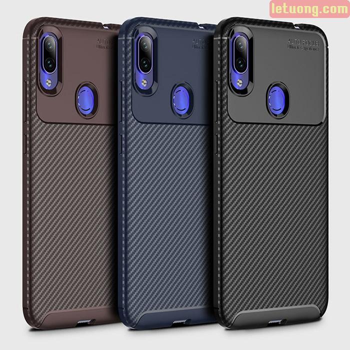 Ốp lưng Redmi Note 7 LT Carbon Fiber Case chống vân tay
